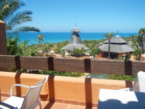 Vistas de la Playa de La Barrosa desde Novo Resort